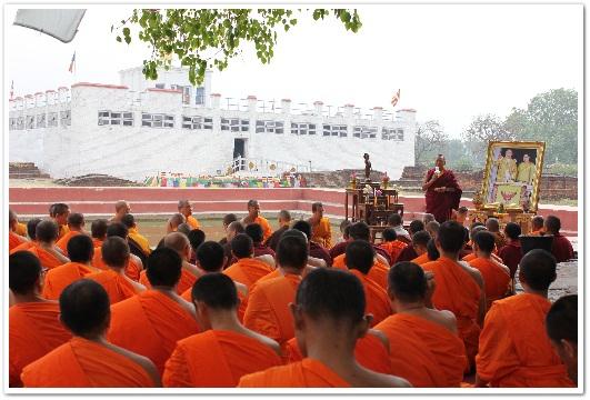 Acharya Karma Sangbo Sherpa Vice Chairman of Lumbini Development Trust (LDT.) กล่าวแสดงความยินดีต้อนรับคณะพระธรรมทูต